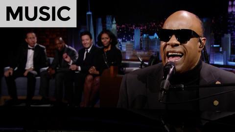 "Stevie Wonder Sings ""Isn't She Lovely""/""My Cherie Amour"" to Michelle Obama"