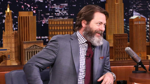 Nick Offerman Picked Up Some Mojo from President Obama