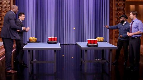 Roomba Pong with Magic Johnson and Luke Wilson