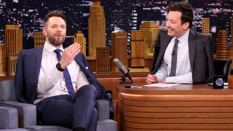 Joel McHale and Jimmy Cape Up Their Interview