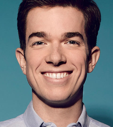 The 35-year old son of father (?) and mother(?), 185 cm tall John Mulaney in 2017 photo