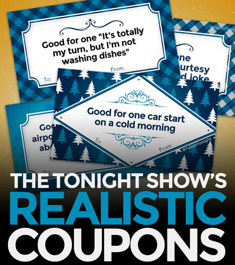 Tonight Show Realistic Coupons